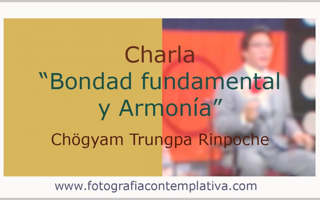 Bondad fundamental y armonía  Chögyam Trungpa Rimpoché